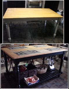 Kitchen table makeover/Table to Island