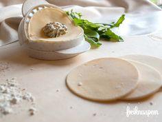 Selbstgemachte Ravioli, glutenfreie Ravioli, laktosefreie Ravioli, glutenfreie Rezepte von freiknuspern - Rezepte für Allergiker