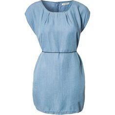 Won Hundred Inky Dress (£120) ❤ liked on Polyvore featuring dresses, vestidos, short dresses, blue, blue dress, tie dress, won hundred dress, won hundred and mini dress