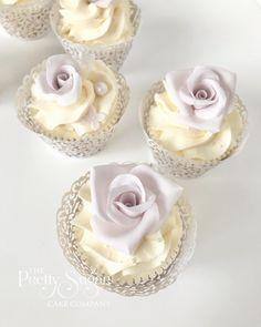 Rose blush pink cupcakes Wedding Cake Designs, Wedding Cakes, Luxury Cake, Sugar Cake, Pink Cupcakes, Dream Cake, Home Wedding, Celebration Cakes, Celebrity Weddings