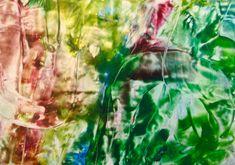 Encaustic auf Papier, 60x42 cm, ohne Rahmen Paper, Frame, Abstract, Painting Art
