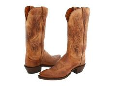 Lucchese - N4540 5/4 (Tan Mad Dog Goat) Cowboy Boots