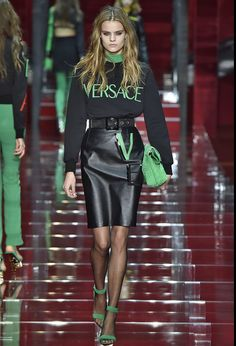 Black & Green. #fashiontrends