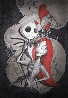 Jack and Sally Art | Jack and Sally in Love by MADmoiselleMeli on deviantART