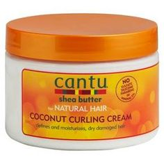 Cantu Shea Butter for Natural Hair Coconut Curling Cream 12 oz.: Cantu Shea Butter for Natural Hair Coconut Curling Cream. No sulfate silicone parabens or mineral oil. Defines and moisturizes, dry damaged hair. Cantu Shea Butter Coconut Curling Cream, Coconut Cream, Damp Hair Styles, Curly Hair Styles, Natural Hair Styles, Natural Curls, Natural Beauty, Up Dos, Make Up