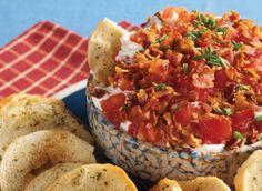 receta-dip con tocino, lechuga y tomate
