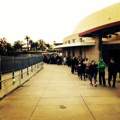 Line for basketball tickets started at 5 a.m. and went all the way around the arena #SDSU