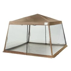 ShelterLogic Sport Series Slant-Leg x Pop-Up Canopy with Screen Insert  sc 1 st  Pinterest & This is the best screened in tent I could find because all 4 sides ...