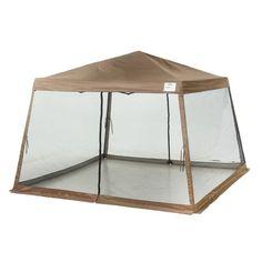 ShelterLogic Sport Series Slant Leg X Pop Up Canopy With Screen Insert