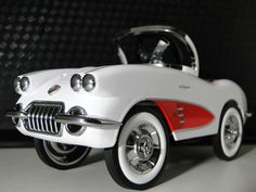 Pedal Car Vintage 1950s Chevy Corvette Sport Hot Rod Midget Metal Show Model Art