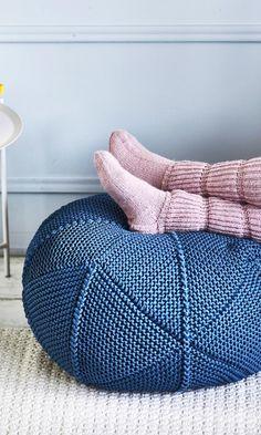 Knitting Needles, Bean Bag Chair, Diy, Knits, Furniture, Home Decor, Decoration Home, Bricolage, Room Decor