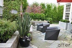 geometric backyard patio pattern