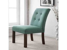 HomePop Tufted Aqua Textured Parsons Chair (Set of - Esstisch Fabric Dining Room Chairs, Parsons Dining Chairs, Tufted Dining Chairs, Leather Dining Chairs, Dining Room Bar, Dining Chair Set, Chair Fabric, Desk Chair, Swivel Chair