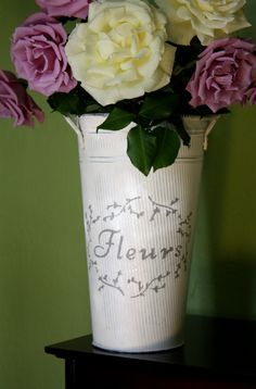 French Flower Bucket