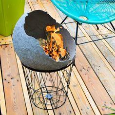 Cement Art, Beton Diy, Concrete Projects, Fire Bowls, Cozy House, Bbq, Quitter, Outdoor Decor, Handmade
