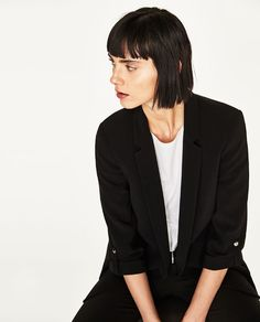 Image 6 of BLAZER WITH SLEEVE DETAIL from Zara