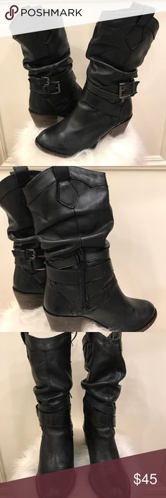 Aldo mid-calf black boots Great condition!! Mid-calf ALDO Black boots. With a approx 2 inch heel Aldo Shoes Heeled Boots