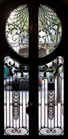 Art Deco Door in Barcelona, Spain by emilia