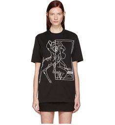 Givenchy Bambi Print Cotton Jersey T-shirt, Black Givenchy Clothing, Givenchy Paris, Black Cotton, Her Style, Designing Women, Printed Cotton, Knitwear, Street Wear, Bambi