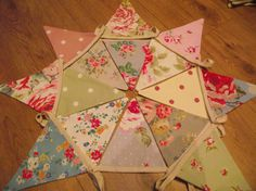 Handmade Fabric Bunting with Cath Kidston Laura by BreifneCottage
