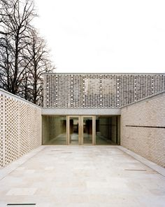 Image 1 of 28 from gallery of Crematory in Basel / Architekturbüro Garrigues Maurer. Photograph by Rasmus Norlander, Ariel Huber Sacred Architecture, Brick Architecture, Religious Architecture, Residential Architecture, Contemporary Architecture, Architecture Details, Cultural Architecture, Facade Design, House Design