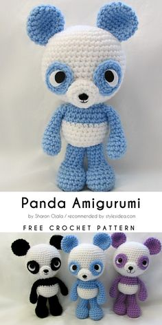 Amigurumi World Collection Free Crochet Patterns #amigurumi #crochetpanda #freepattern