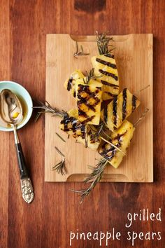 Grilled fruit is the best treat this summer! Grilled Fruit, Pineapple, Grilling, Treats, Cheese, Summer, Recipes, Food, Sweet Like Candy