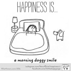 Happiness is a morning doggy smile