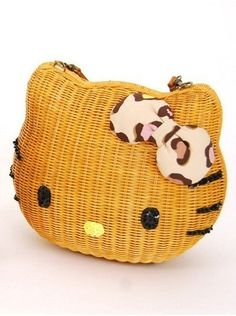 Nina Mew x Hello kitty 2013 Spring Collection Kitty Face Basket Brown from JAPAN