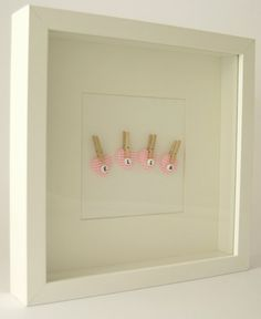 Personalised Baby Girl Picture in Pink by lilyanddelilah on Etsy, £29.00