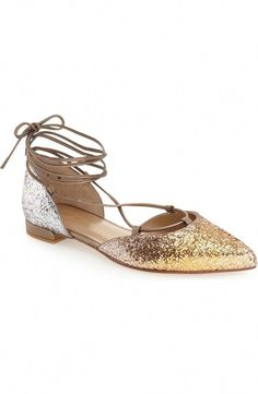 428d4c020cf Dazzle any outfit up with these sparkling lace-up flats from Stuart  Weitzman! The
