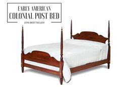 Amish Maple Wood Colonial Arch Top Bed Village Inn Collection The simple and clean lines of this Colonial bed is a look that would blend with a traditional or contemporary home decor.