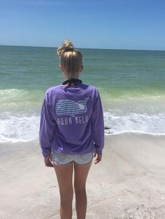 VIOLET POCKETED CHEVRON WHALE LONG SLEEVE TEE  Cute T-shirts for change