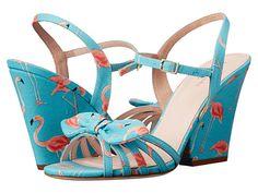 Kate Spade New York Indie Turquoise Festive Flamingo Printed Fabric - 6pm.com