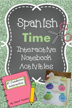 Spanish time foldable templates for learning and practicing telling time.