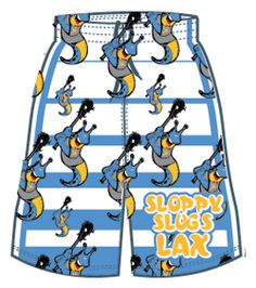 Lacrosse Unlimited Exclusive Sloppy Slugs Lacrosse short with sloppy slugs design. Comes in both youth and Men's sizes.