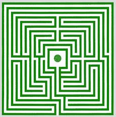 """The hedge maze at Chevening House, England, c.1820, was one of the first consciously designed to provide a more complex puzzle and thwart  the """"hand-on-wall"""" rule for solving mazes"""