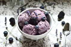 Paleo Double Berry Coconut Ice Cream (Dairy Free, AIP, SCD, GAPS, No Added Sweetener)