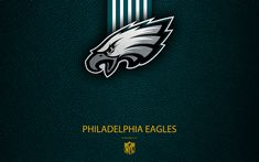 Download wallpapers Philadelphia Eagles, 4K, American football, logo, leather texture, Philadelphia, Pennsylvania, USA, emblem, NFL, National Football League, Eastern Division