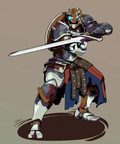 warforged paladin fighter automaton fantasy DnD