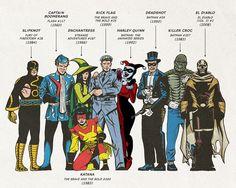 Esquadrão Suicida - Arte compara versão original dos quadrinhos com personagens do filme! - Legião dos Heróis