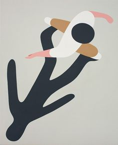 Geoff McFetridge: Meditallucination. On canvas. click through for artists vision & details