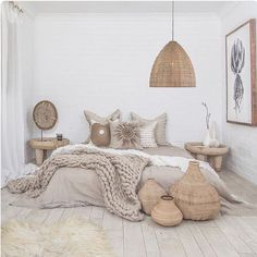 17 Scandinavian Bedroom Designs That Will Thrill You is part of Scandinavian design bedroom - Today we present some beautiful pictures of Scandinavianstyle bedrooms Scandinavian style in the interior is primarily mix of simplicity, functionality Scandinavian Bedroom Decor, Neutral Bedroom Decor, Cozy Bedroom, Summer Bedroom, Modern Bedroom, Natural Bedroom, Bedroom Beach, Master Bedroom, Scandinavian Design