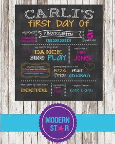 First Day Of School Chalkboard Sign Printable  by ModernStarPrint, $12.00