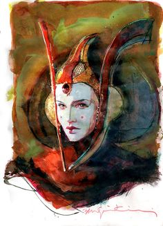 Star Wars: Padme Amidala by Bill Sienkiewicz * - Art Vault