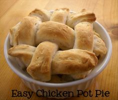Individual Chicken Pot Pies--  Great website for basic crockpot shredded chicken and 40 sound-good recipes that use it!