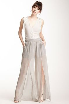 Slit Leg Printed Pant by BCBG on @HauteLook