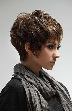 Cute Short Hair. I like the fringe along the face. Like the fact it is not in her eyes. Like the puffiness in the back