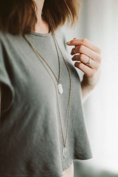 Crystal Gemstones Necklace #etsyjewelry