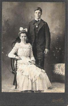 Cabinet Photo Female Male Couple Marshfield Sturle Photographer Genealogy #700